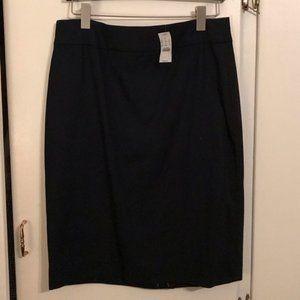 NWT J. Crew Navy Pencil Skirt, Size 10
